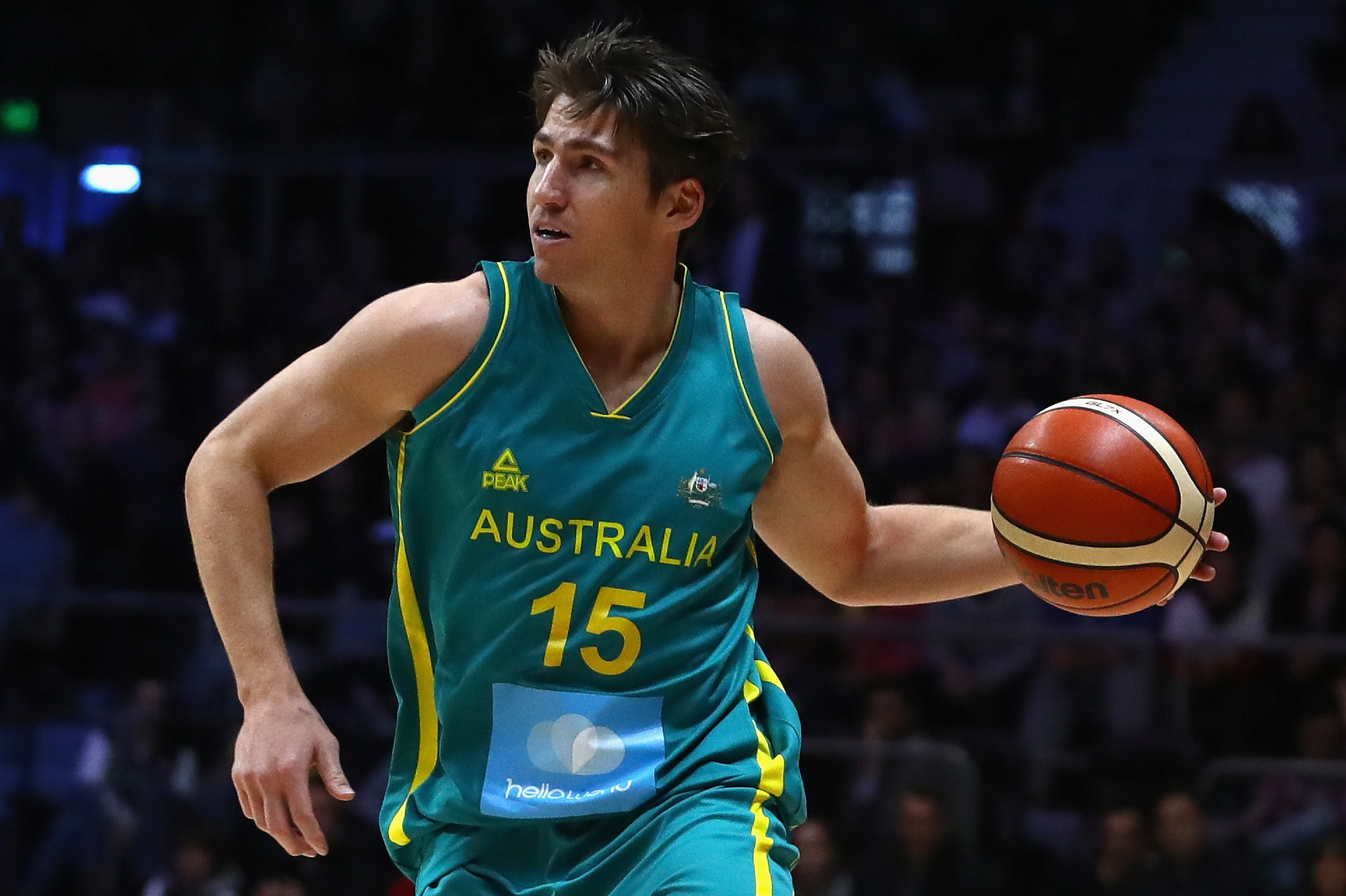 Damian Martin in action for the Boomers. Photo: Getty