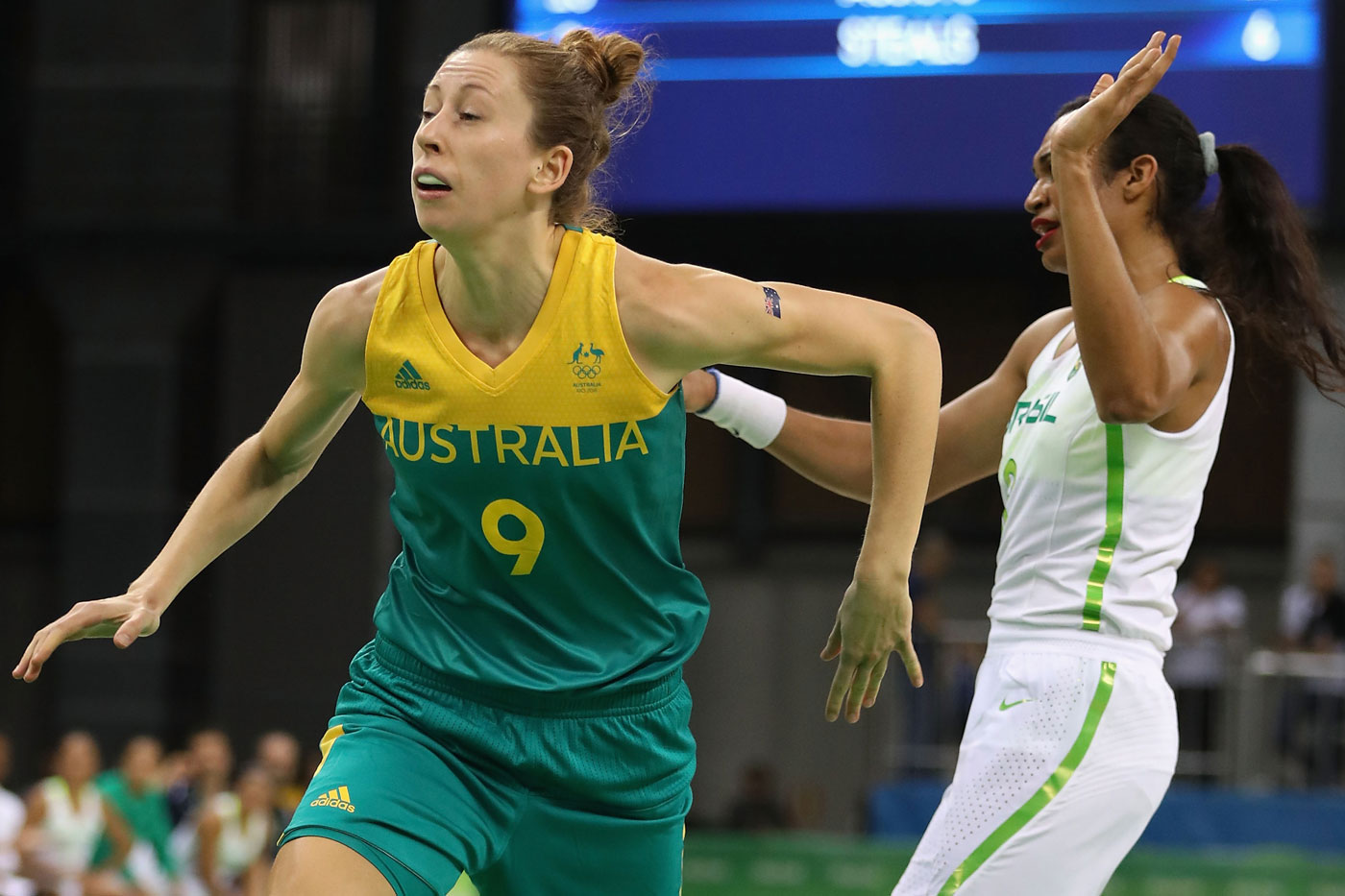 Perth's Natalie Burton was in action for the Opals. Photo: Getty
