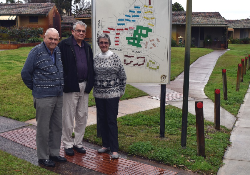 Mertome resident Peter Carton, Noel 'Ossie' Schokman and Maureen McCormack at the village. |Picture: Toyah Shakespeare