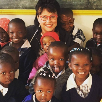 Susan Saleeba with children from the baby class.