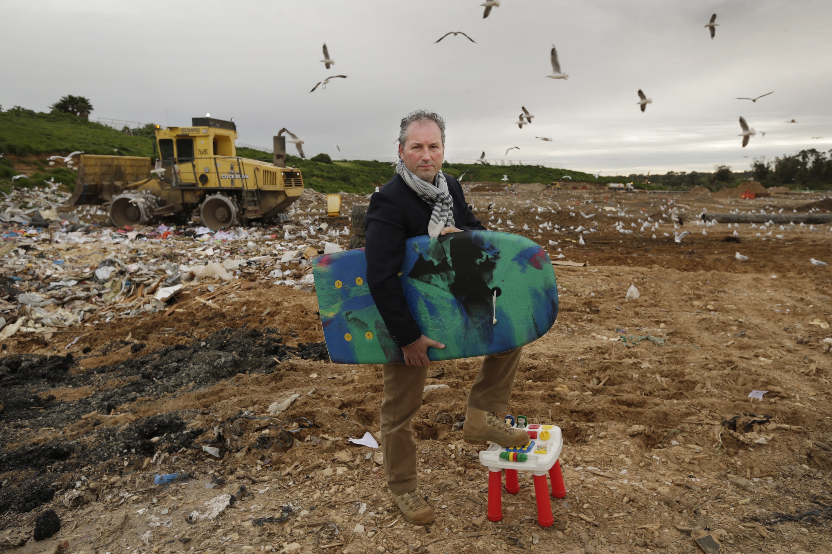 Waste Authority of WA chairman Marcus Geisler at Henderson Waste Recovery Park. Picture: Andrew Ritchie.