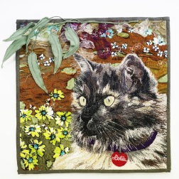 Australian Quilt Convention: Craigie cat gets 15 minutes of fame in embroidery