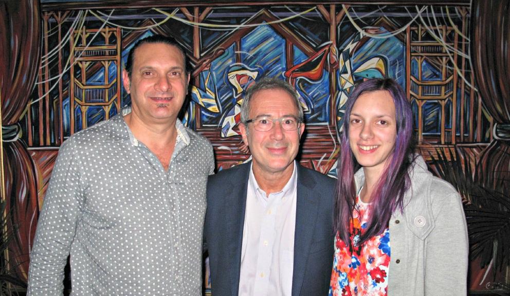 Anthony Carna, Ben Elton and Samara Ransom.