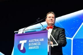 Cystic Fibrosis WA wins charity award at 2016 Telstra Biz Awards