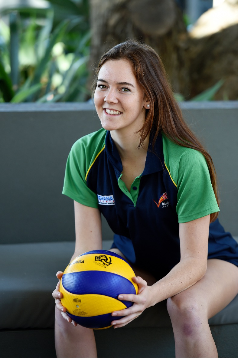 Rossmoyne Senior High School volleyball student competing with the big guns in the US