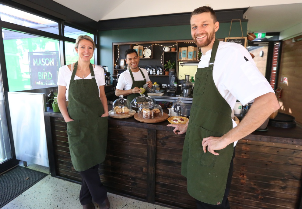 Kalamunda: new cafe building after hectic first week