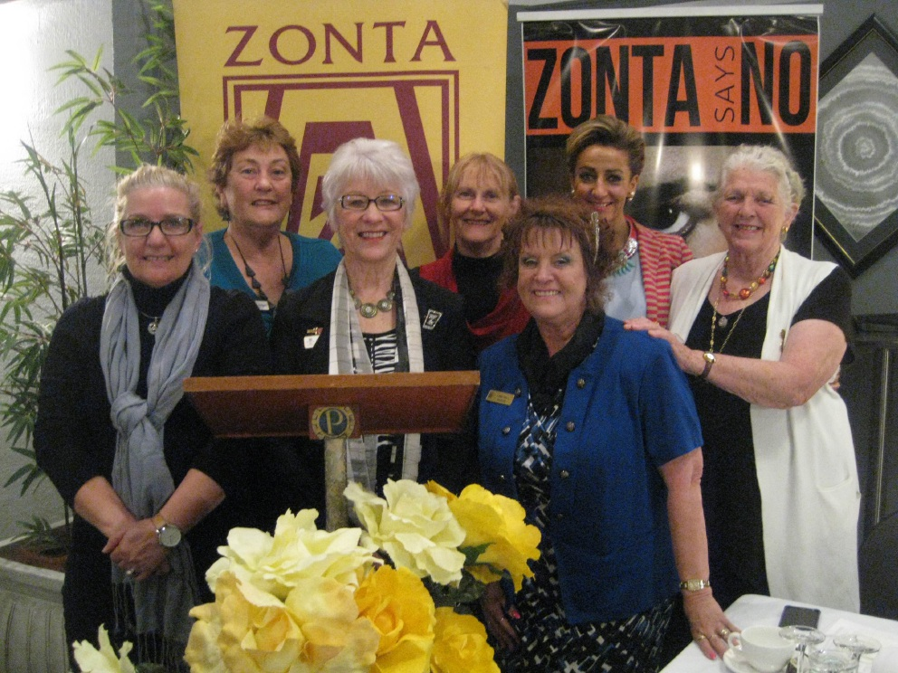 Nerida Jongen, Dr Margaret Sturdy, Lizzie Barrenger, Rev. Pam Halbert and (front) treasurer Glenys Watters, president Lorraine Webb and secretary Lara Hall.