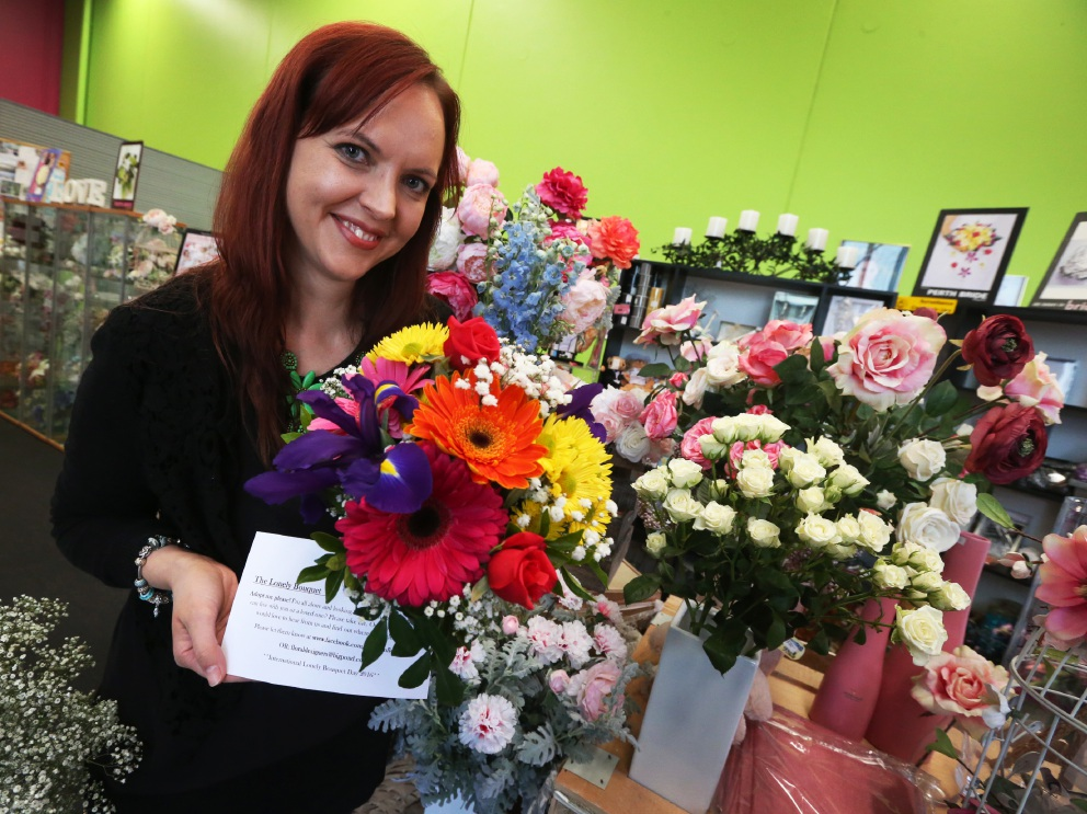 Willetton Florist owner Christine Blackshaw. Picture: Matt Jelonek