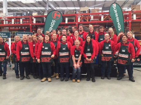 Former Dockers captain Peter Bell opened the new Bunnings Warehouse in Halls Head