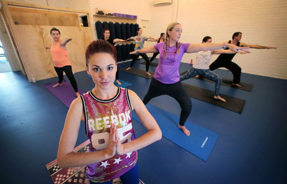 Kaye Waterhouse has opened the first hip hop yoga school in Perth, Picture: David Baylis