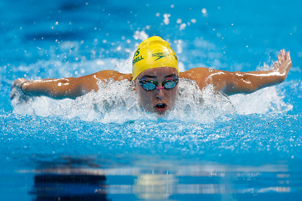 Brianna Throssell of Australia competes in the Women's 200m Butterfly heat on Day 4 of the Rio 2016 Olympic Games at the Olympic Aquatics Stadium in Rio de Janeiro, Brazil. Picture: Clive Rose/Getty Images.
