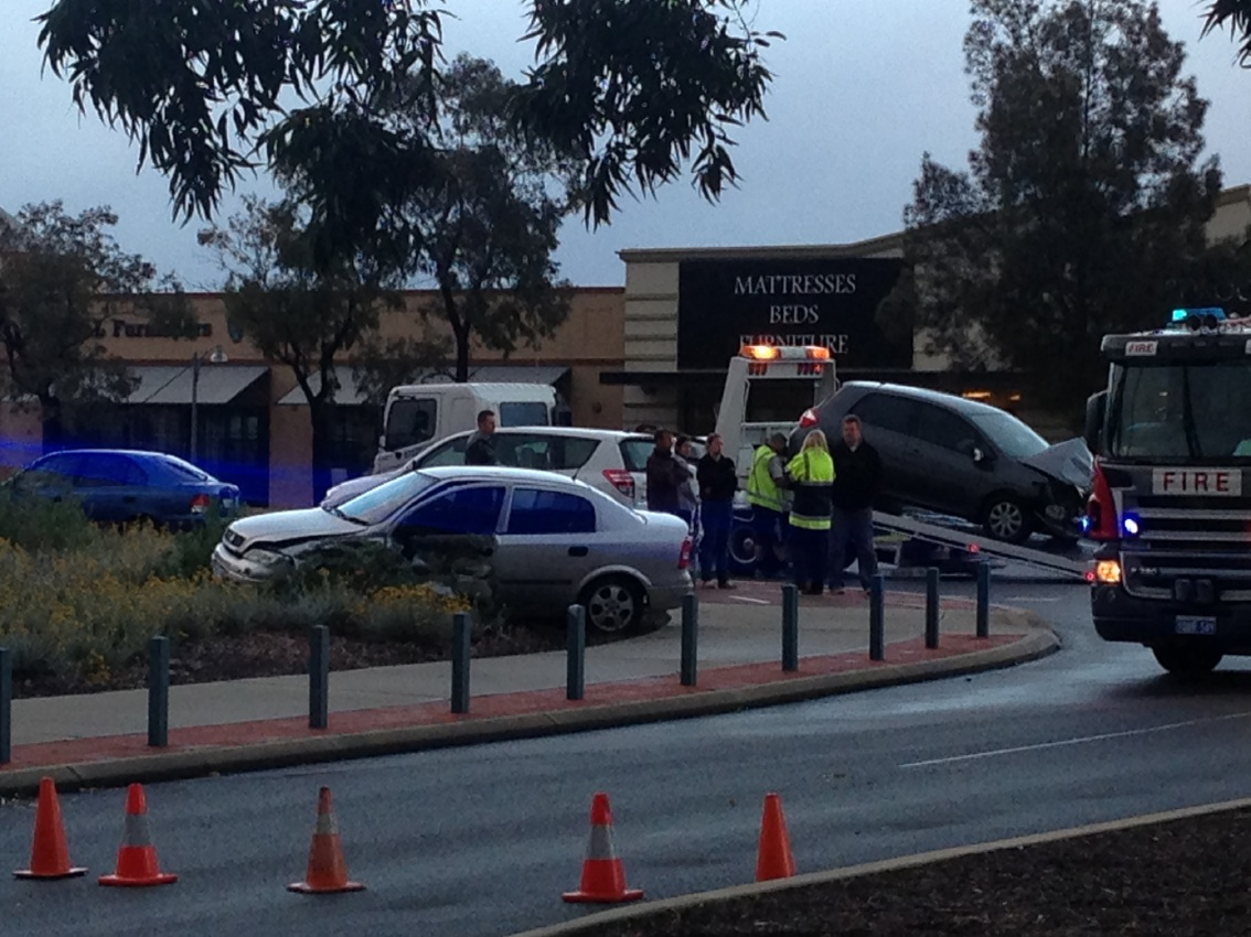 The other car involved in the Joondalup Drive crash.