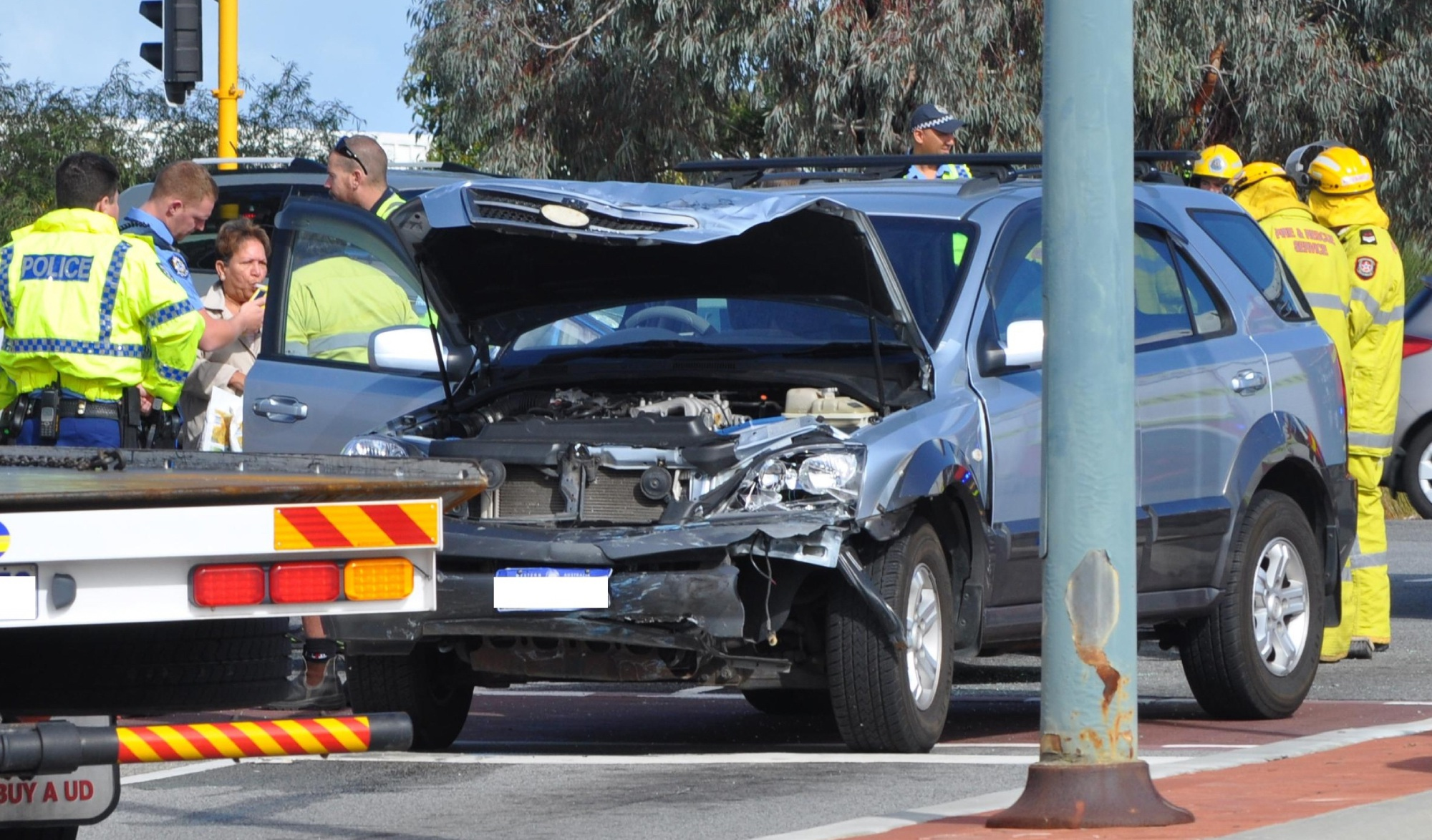 Another crash on Joondalup Drive on Wednesday.