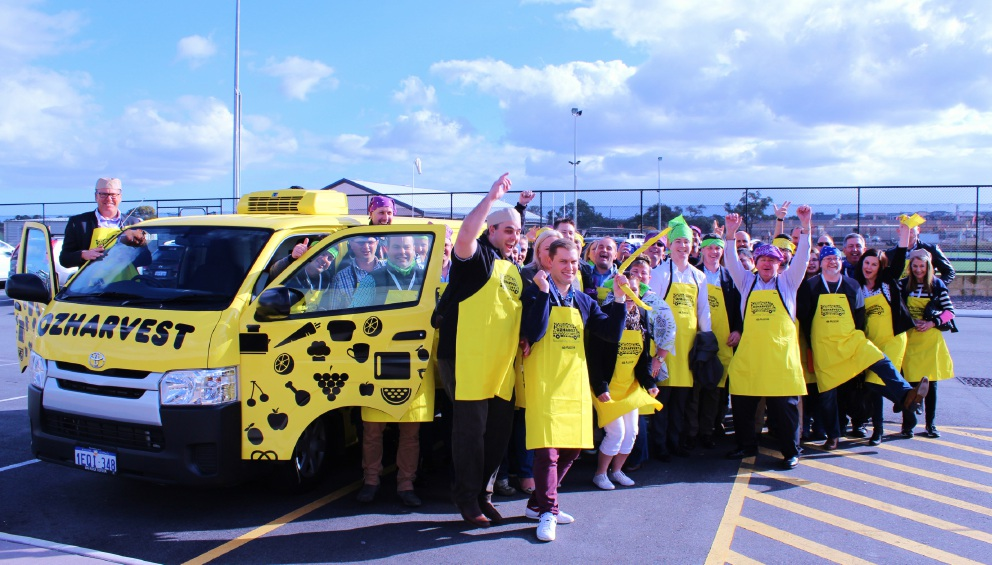 Aussie Home Loans staff volunteer for OzHarvest in Ellenbrook.