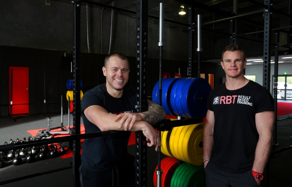 Gym owners Travis Jones and Ryan Dickson. Picture: Martin Kennealey                         d457320