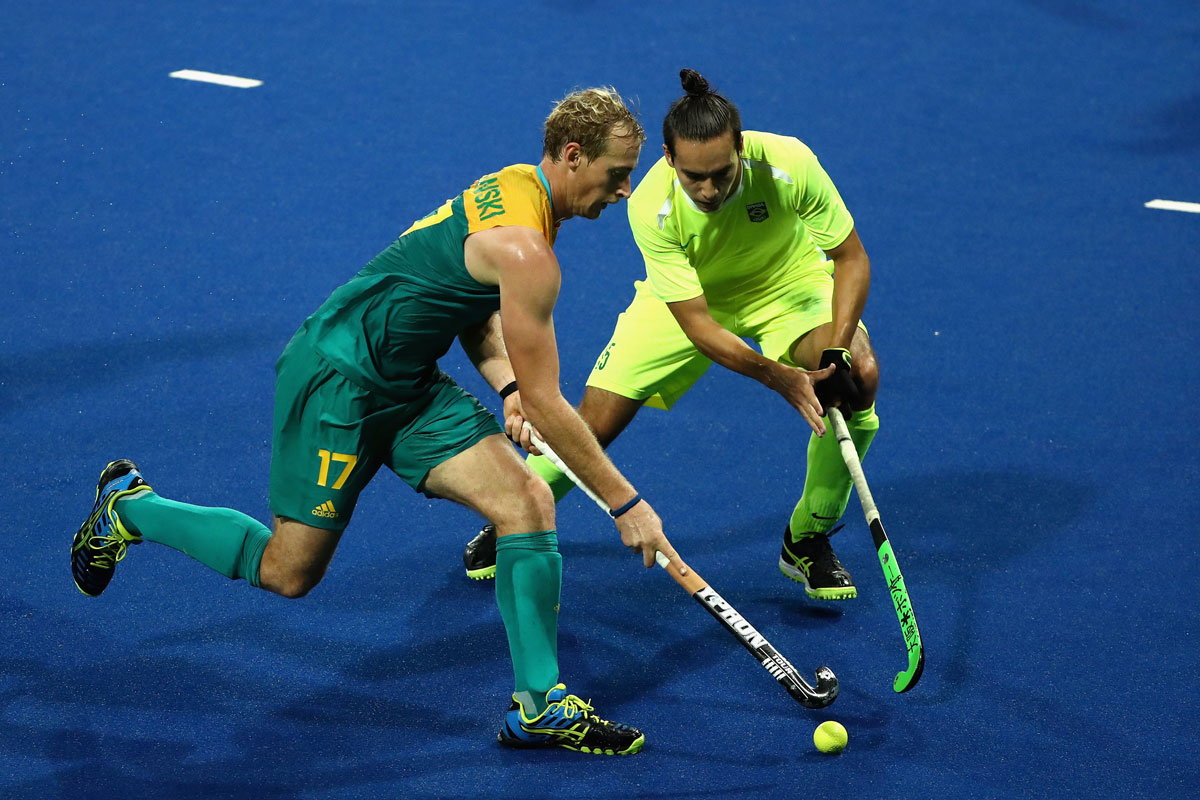Perth boy Aran Zalewski in action against Brazil.