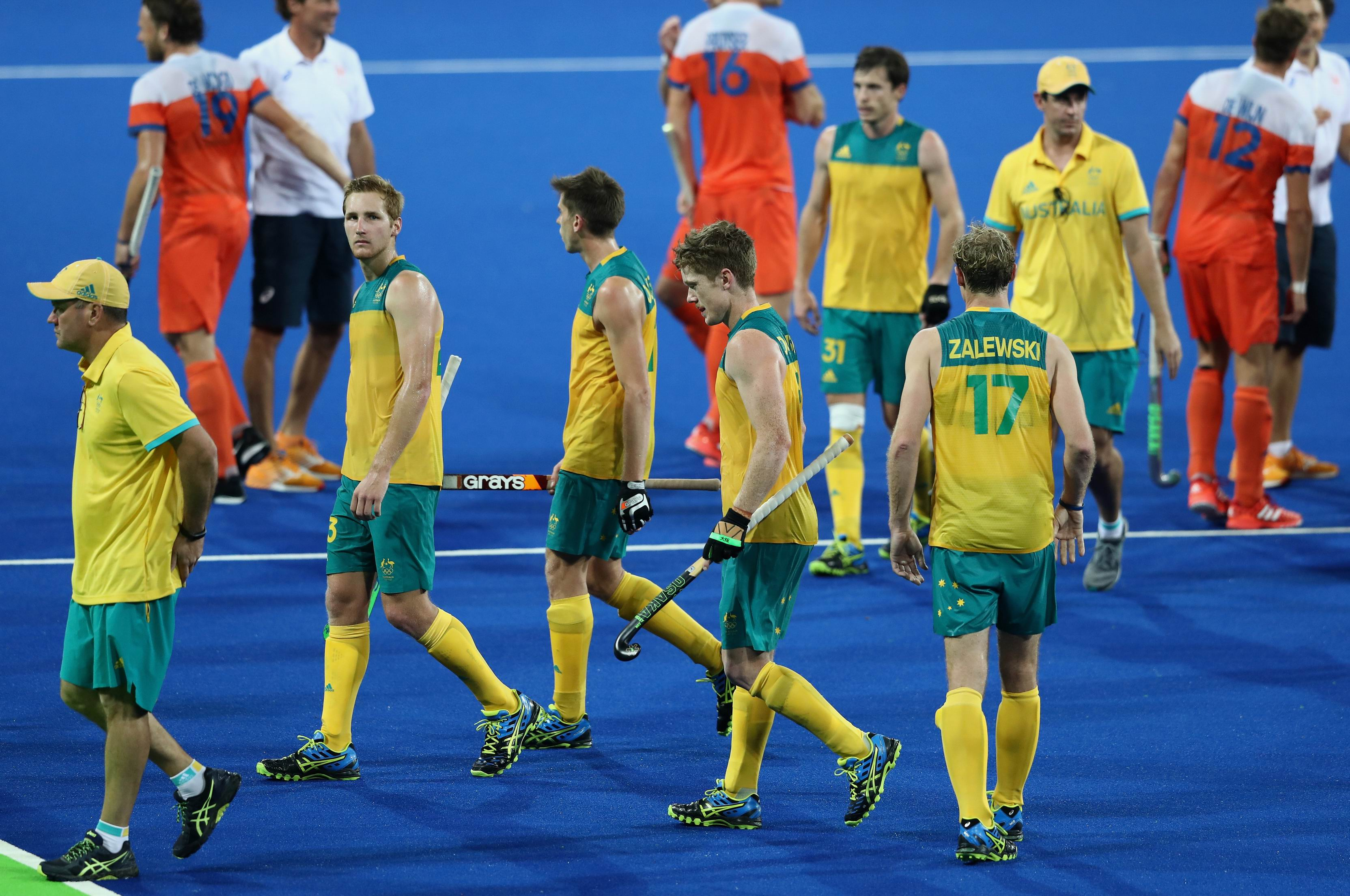 The dejected Kookaburras are coming home. Photo: Getty