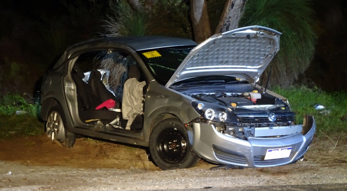 The wreck of the Holden Astra. Picture: ABC/Twitter