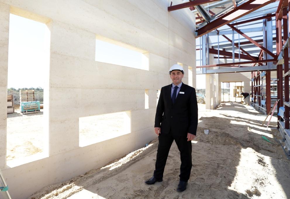 Northshore Christian Grammar School principal Stuart Chisholm. Picture: Martin Kennealey     d457652