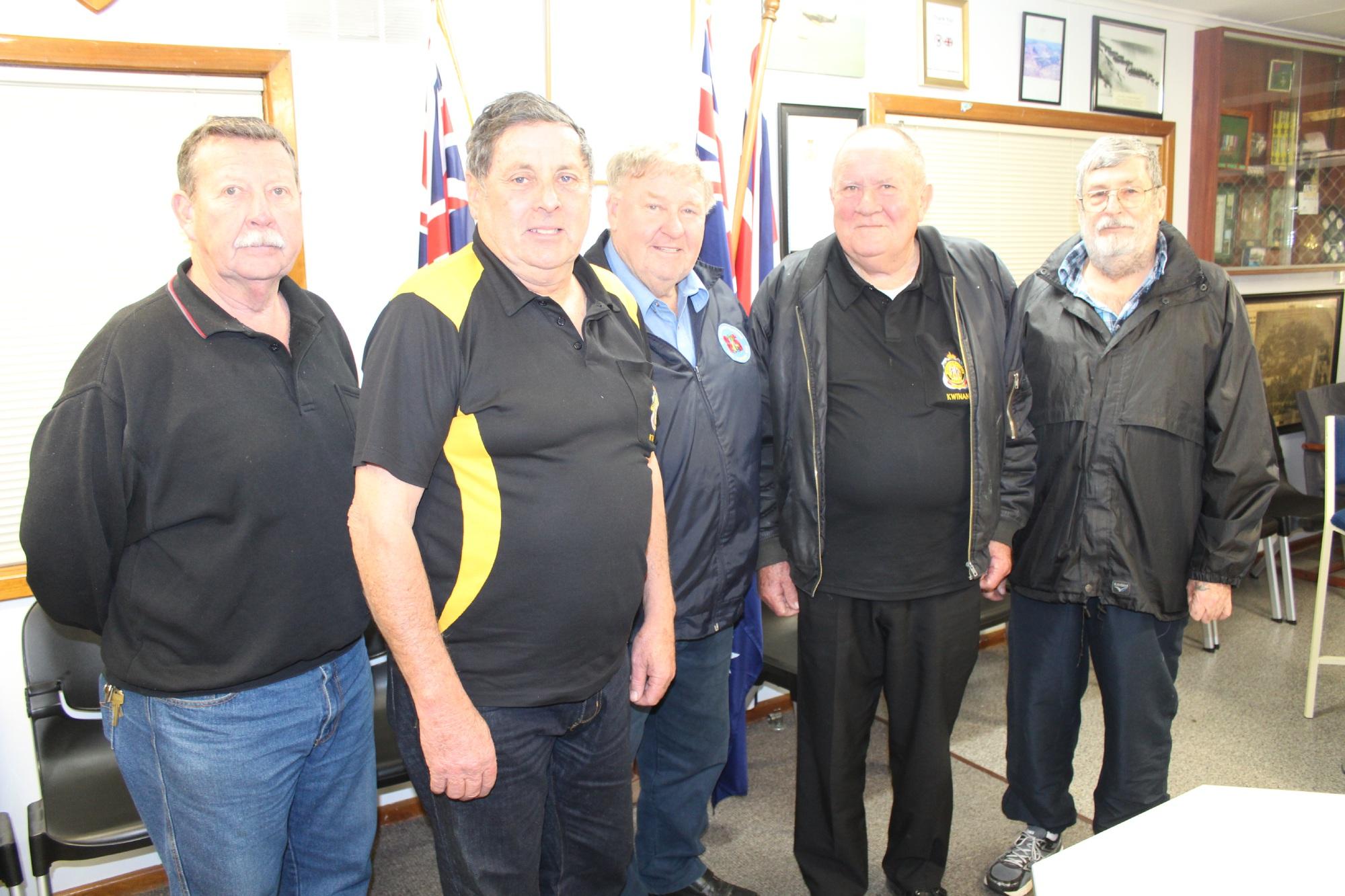 RSL member Don Buchanan, Kwinana RSL president Dave Spillman and fellow members Morris Danks, Peter Short and Dennis Humphrys.