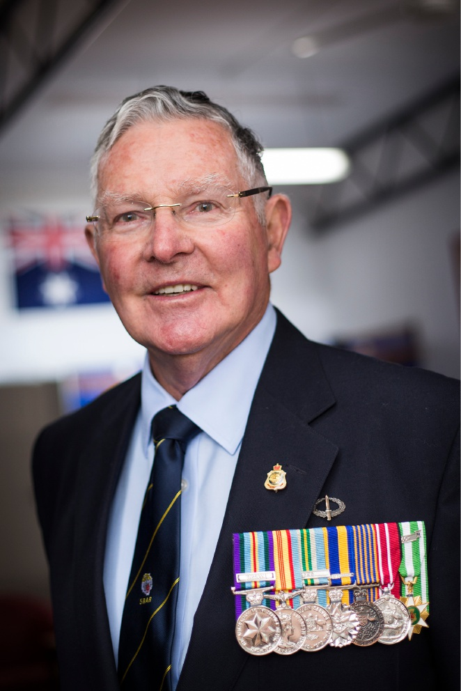 Retired soldier Greg Negus with his service medals. Picture: Will Russell        www.communitypix.com.au   d45794