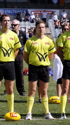 WAFL umpire Matt Adams.