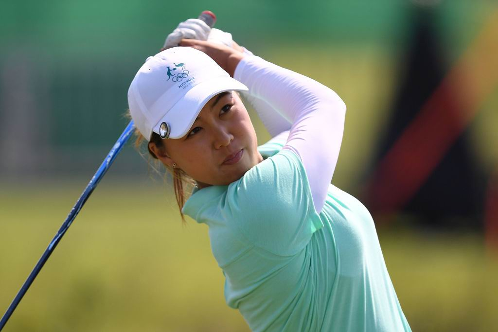 Minjee Lee during the second round of the women's golf at the Rio Olympics. Picture: Greg Baker/Getty Images