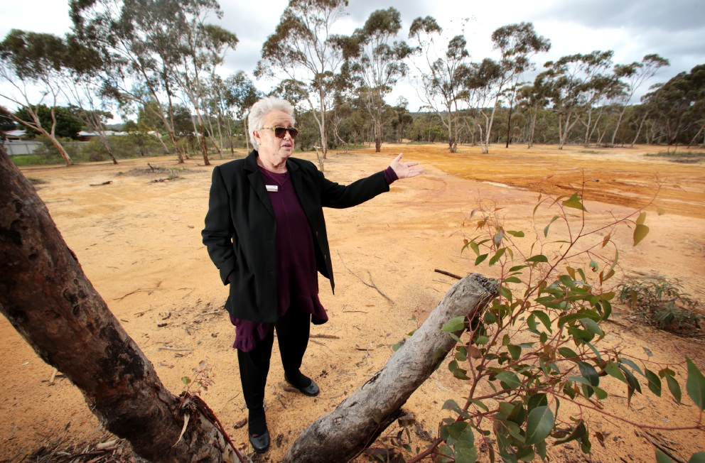Cr Noreen Townsend, who is a member of the Kalamunda Aged Care Advisory Committee, hopes this York Street site in Forrestfield will be considered for a new aged care facility. Picture: David Baylis        www.communitypix.com.au   d458052