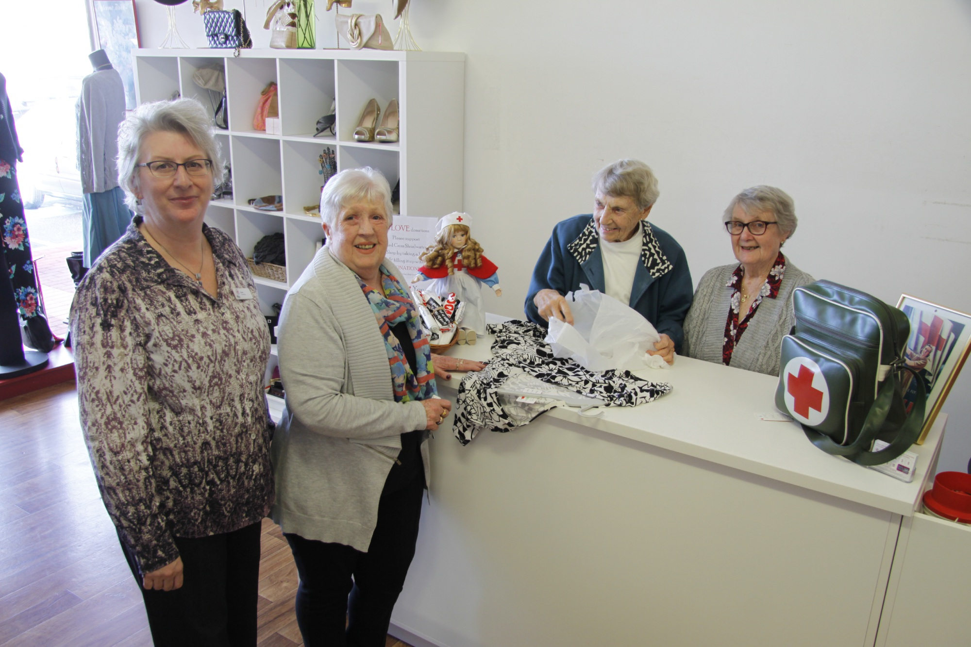 Shoalwater Red Cross Op Shop volunteers calling time