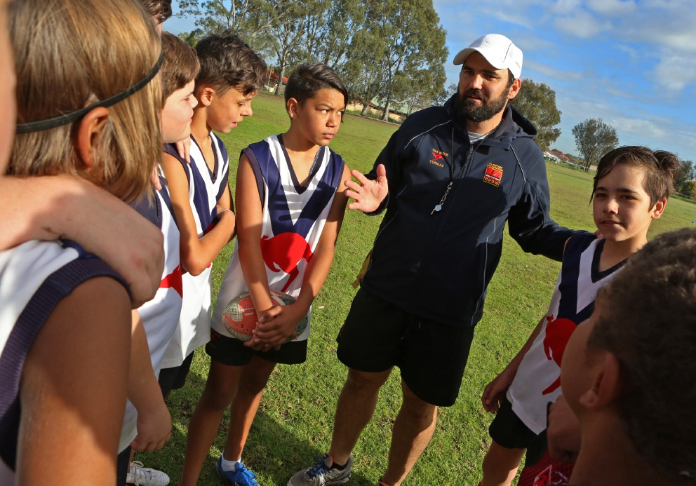 Teacher Simon Nimmo, of Yule Brook College, has been awarded for the Most Outstanding Indigenous AFL Program. Picture: Matt Jelonek        www.communitypix.com.au   d457976