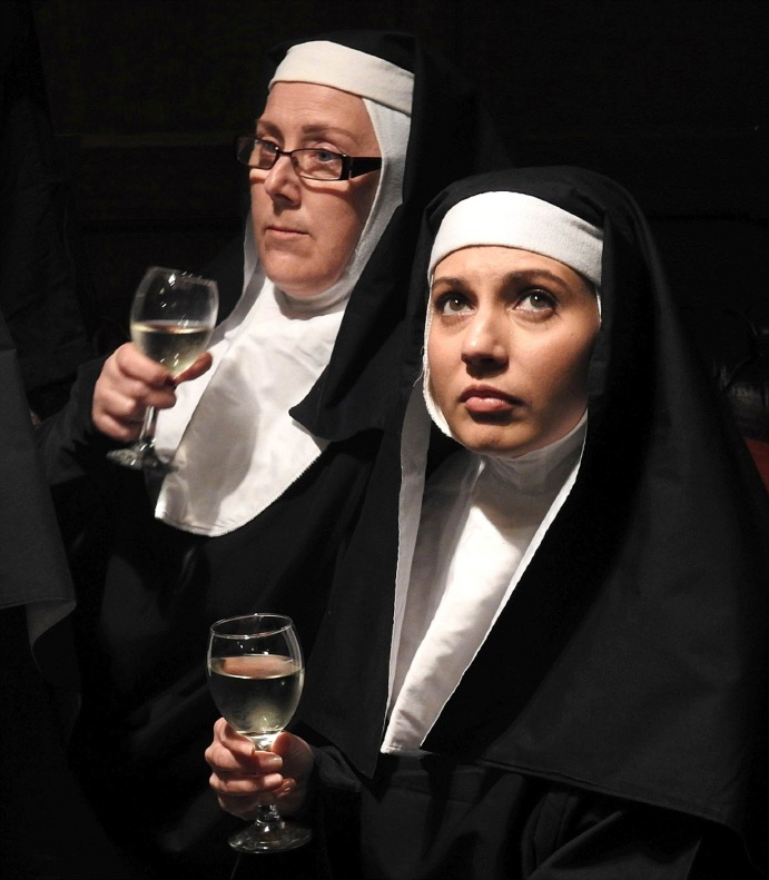 Caroline McDonnell (left) and Valerie Dragojevic in Hail Mary 2: The Haunting. Picture: John Spurling