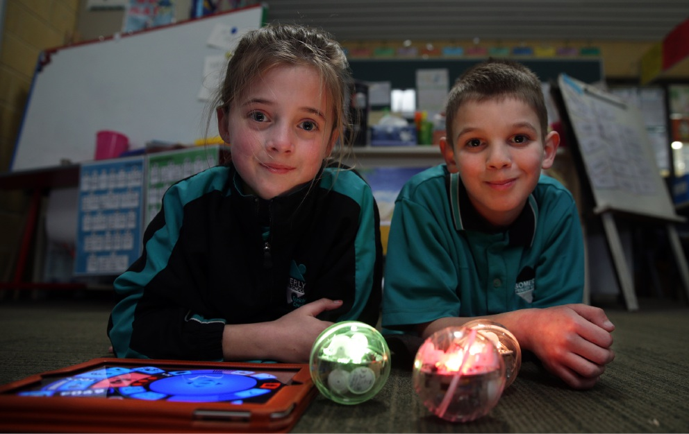Robots get coding ball rolling at Somerly Primary