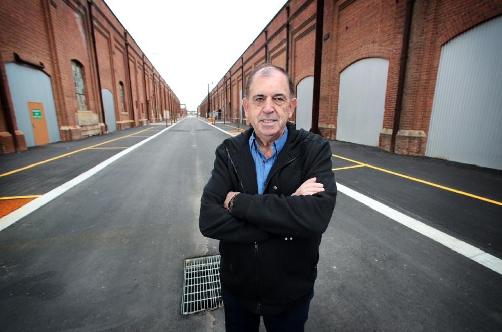 Gerry Hanssen outside Midland Railway Workshops. Picture: David Baylisd458399