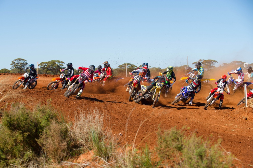 #88 Mitch Taylor gets the holeshot riding in the MX1 class. Picture: True Spirit Photos/Gordon Pettigrew
