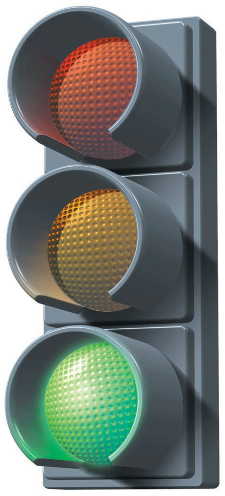 Traffic lights preferred to roundabouts.