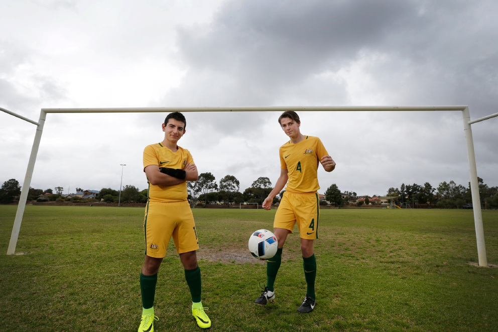 Alessandro La Verghetta and Nick Prescott are two of the youngest players in the Pararoos team which has qualified to play in the World Championships in Argentina in September 2017. Picture: Andrew Ritchie     www.communitypix.com.au   d458320