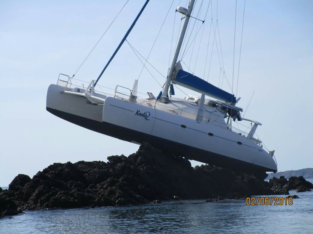 Rockingham family's yachting holiday goes to unwanted heights