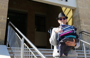 Currambine resident Bill Park is urging people to give generously to the City's charity clothing collection day on Saturday.