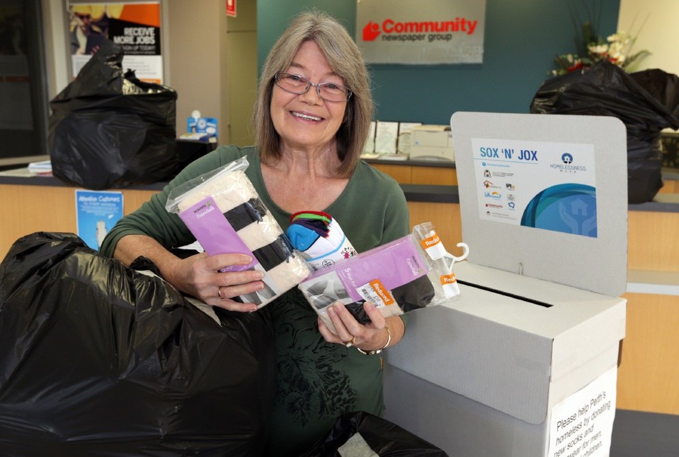 Joondalup sales support co-ordinator Judi Shelton says thanks. Picture: Martin Kennealey d457934