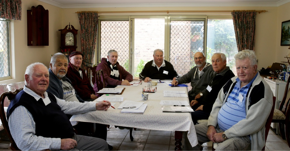 Men's shed commitee members Malcolm Gow (chairman), Ozzie Balzer, John Hollingsworth, Gavin Moore |(secretary), Lou Dorsa, Ron Bartle (treasurer), Colin Vann and Huw Leslie. Picture: Martin Kennealey        d458099