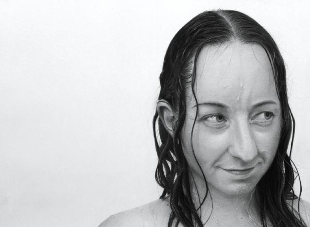Brad Durrant's portrait of fiancé Heidi Nistelberger.
