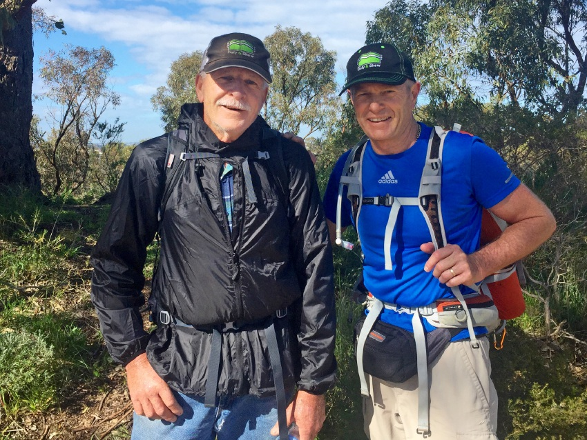 Rob Shaw and Mick Daly complete a training run in preparation for their Kokoda trek.