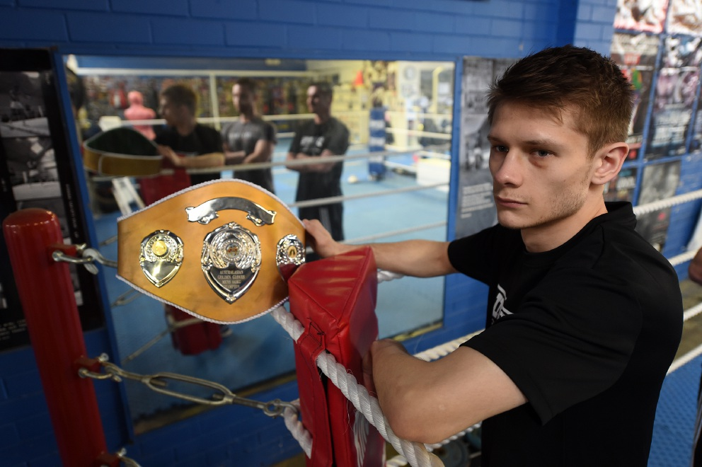 Boxer Billy Polkinghorn is clearly a knockout in the ring. Picture: Jon Hewson www.communitypix.com.au   d457128