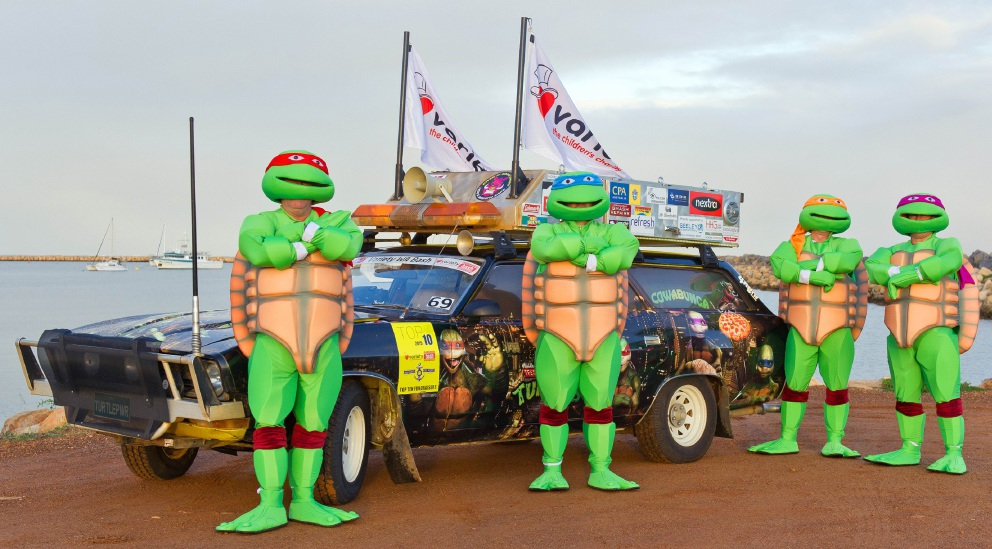 No one in the Kimberley could miss the Ninja Turtles team on their Variety Bash journey.