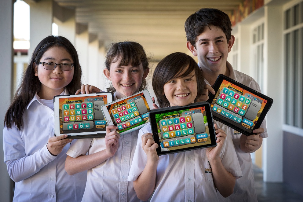 Phoebe Ko, Aoife Wolfe, Stevie Morley-Wong and Xavier O'Brien. |Picture: Will Russell        www.communitypix.com.au   d458415