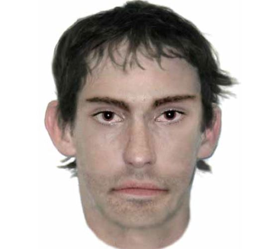A composite image of a man police would like to speak to about the attacks.