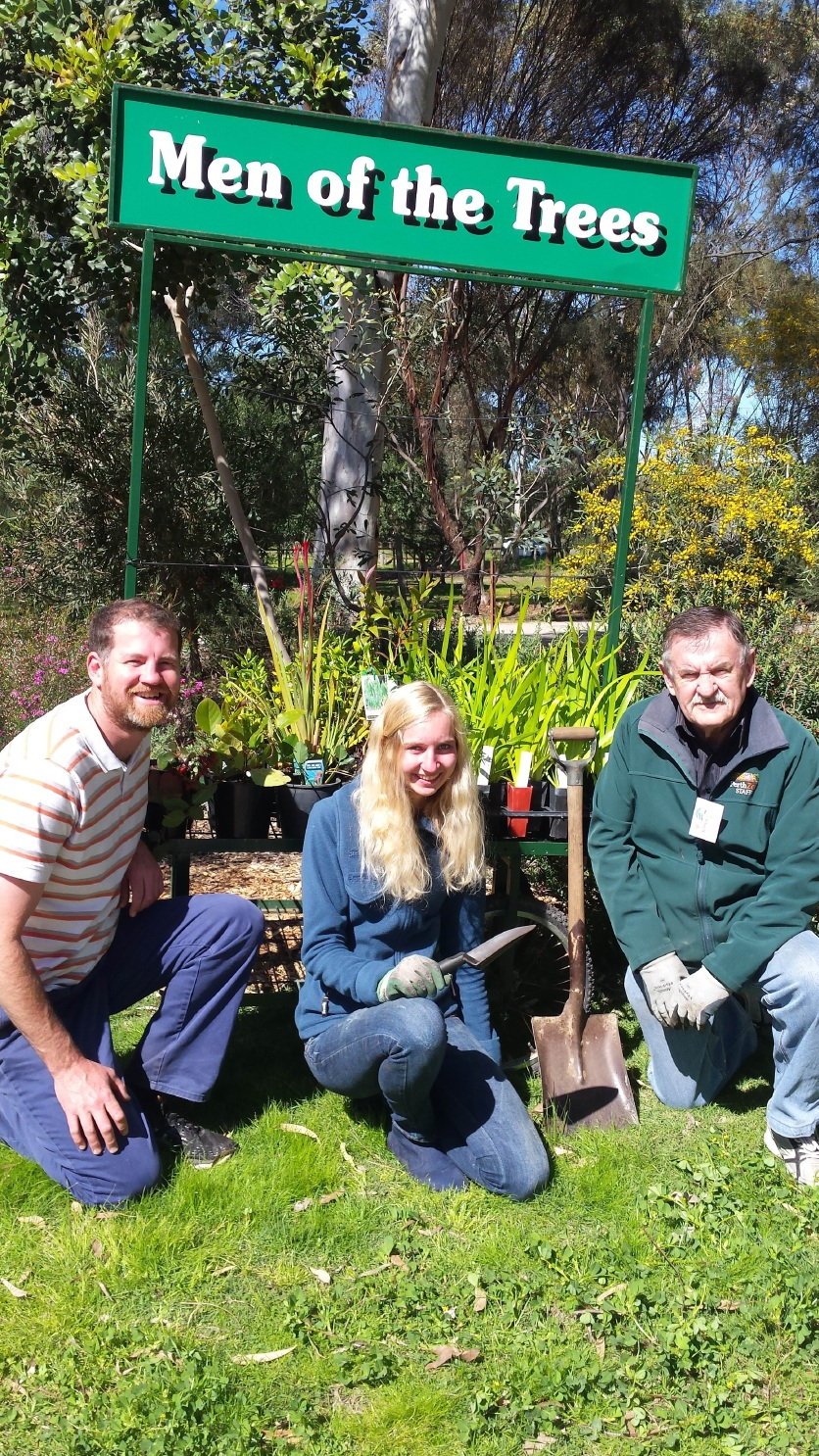 Nursery manager James Teare and volunteers  Lilith Froehlich and Ian Wood are gearing up for the Festival of the Trees.