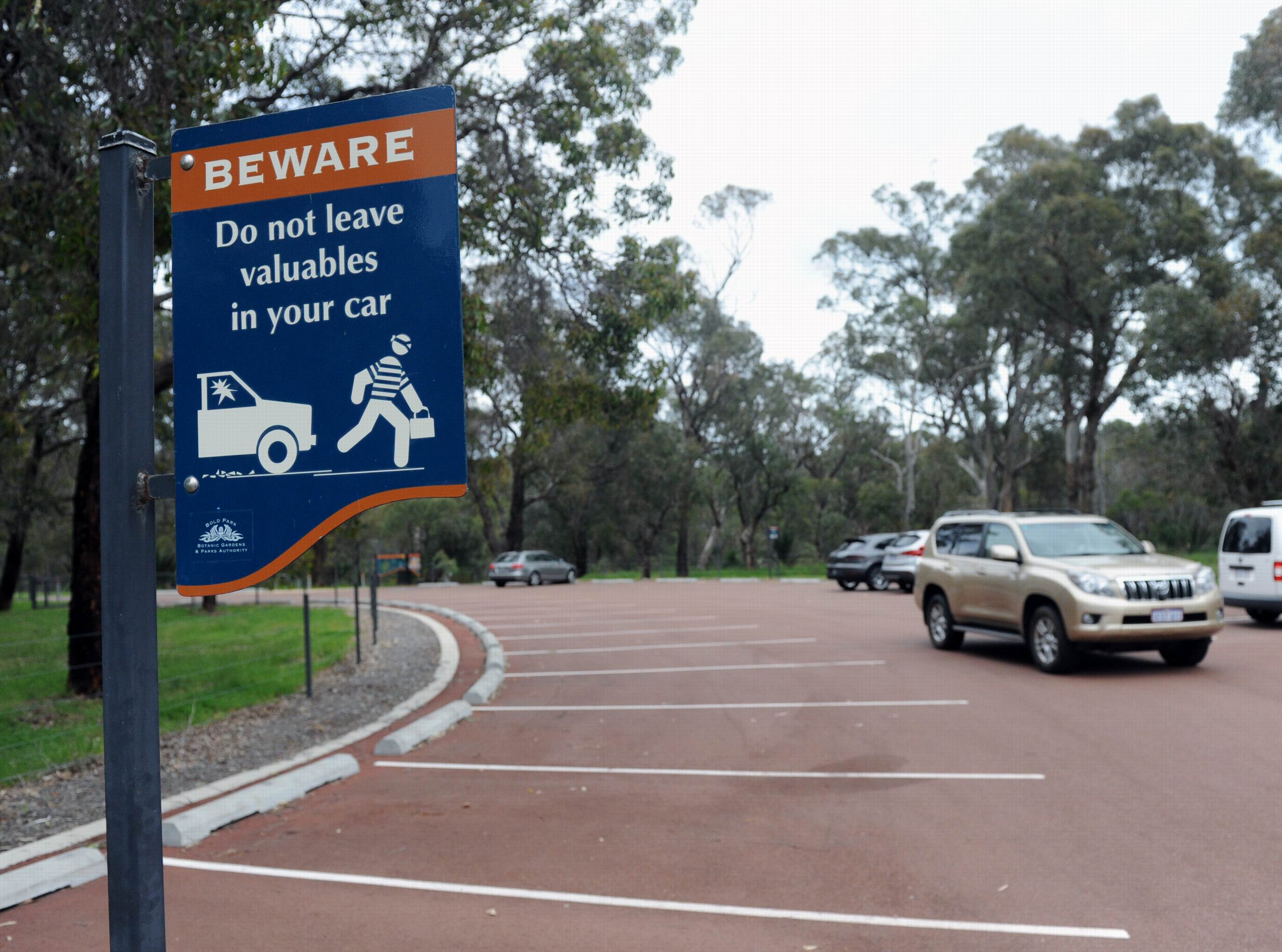 Car owners are urged to be cautious at Bold Park.