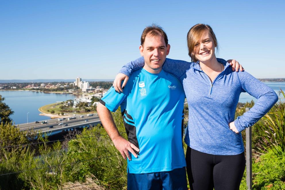 Mark Bernardi and Gemma Harrison.
