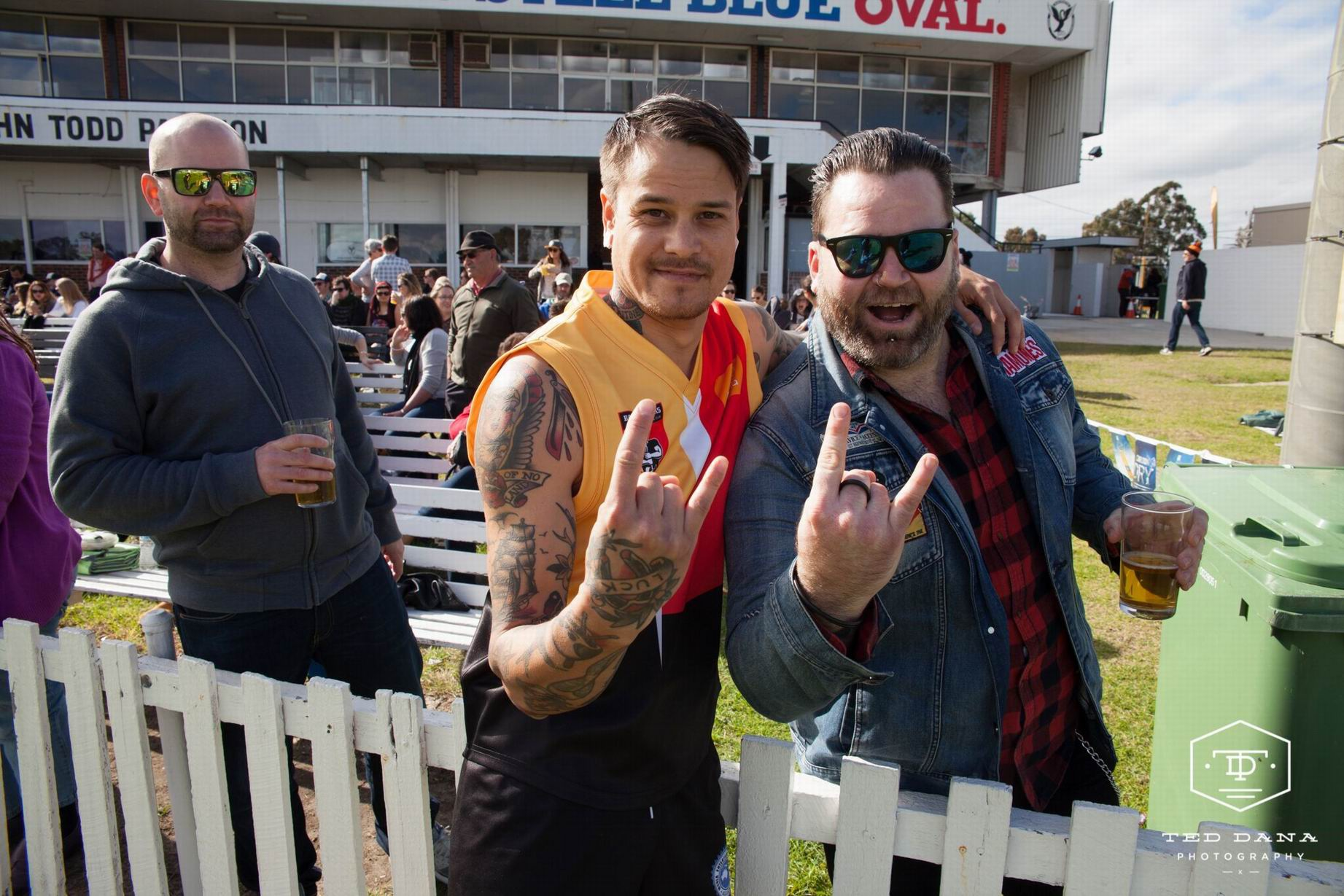Rock and roll meets footy at the Reclink Community Cup. Photo: supplied